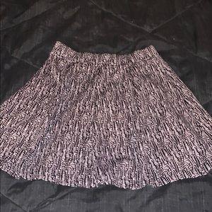 patterned skater skirt